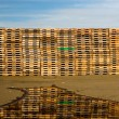 Stock Photo: Pallets, Reflection, and Sky