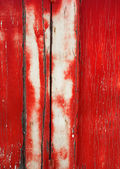 Grunge Background: Cracked Red Door — Stock Photo