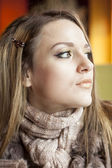 Young Woman with Beautiful Blue Eyes — Stock Photo