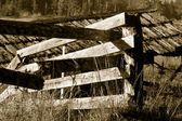 Broken Rail Fence — Stock Photo
