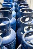 Blue Propane Tanks — Stock Photo