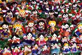 Felgekleurde poppen — Stockfoto