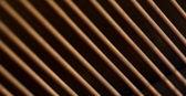 Corde di pianoforte antichi — Foto Stock