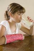 Maggie Drinking Her Milk — Stock Photo