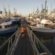 Marina in Westport, Washington — Stock Photo