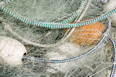 Fishing Net with White Floats — Stock Photo
