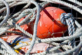 Fishing Net with Red Float — Stock Photo