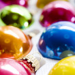 Box of Christmas Ornaments — Stock Photo