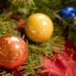 Christmas Ornaments with Douglas Fir  — Stock Photo