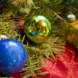 Christmas Ornaments with Douglas Fir — Stock Photo #19829547