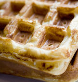 Belgian Waffles: Up Close and Personal — Stock Photo