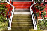 Stairs, Red House — Stock Photo