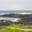 Rocks and Ocean, Kau District, Big Island, Hawaii — Stock Photo