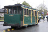 Converted Trolley Car on a Foggy Day — Stock Photo