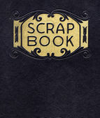Antique Scrapbook, Circa 1890 (no longer under copyright) — Stock Photo