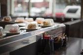 Conveyor Belt at a Sushi Restaurant — Stock Photo