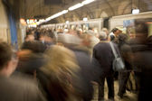 Busy Subway Platform in Rome, Italy — Stock Photo