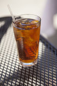 Glass of Iced Tea and Lemon — Stock Photo