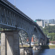 Stock Photo: Ross Island Bridge Over Willamette River in Portland, Oregon