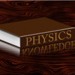 Stock Photo: Physics Book with knowledge reflecting