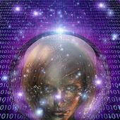 Máquina humano máquina humano chica — Foto de Stock