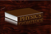 Physics Book with knowledge reflecting — Stock Photo