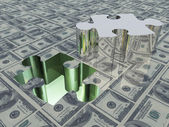 USA Currency Puzzle USA Currency Puzzle — Stock Photo