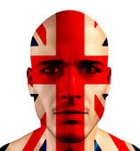 UK FLag and UK Man — Stock Photo