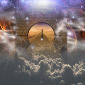 Man on spiritual journey — Stock Photo