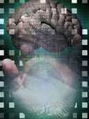 Human Binary Hand — Stock Photo