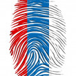 Russia fingerprint — Foto de Stock