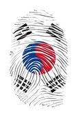 Corea del sur huella digital — Foto de Stock