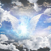 Angelic att vara skymd — Stockfoto