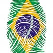 Brazil Finger Print — Stock Photo