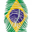 Stock Photo: Brazil Finger Print
