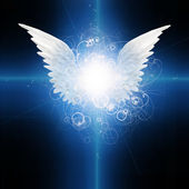 Angel winged — Stock Photo