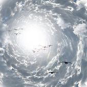 Tunnel der wolken — Stockfoto