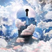 Clouds Man — Stock Photo