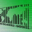 World Binary Barcode — Stock Photo