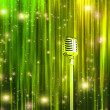 Classic Microphone with Colorful Curtains — Foto Stock