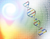 Binary tunnel and DNA Strand — Stock Photo
