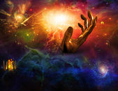 Temple of fire Hand of time — Stock Photo