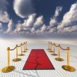Stock Photo: Red carpet in desert sands