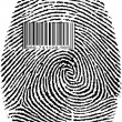 Finger Print Barcode - Stock Photo