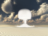 Nuclear detonation in Desert — Stock Photo
