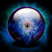 Crystal Ball with all seeing eye — Stock Photo