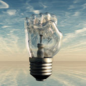 Fist Lightbulb — Stock Photo