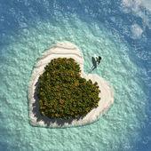 Heart Island — Stock Photo