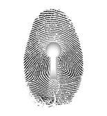 指纹锁 — 图库照片