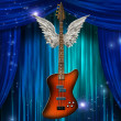 Base Guitar with wings — Stock Photo